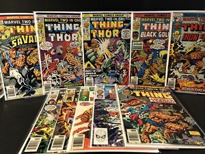 Marvel Two In One Lot 21,22,23,24,25,29,30,31,100/king Size Annual 1 5.0-8.5 RC