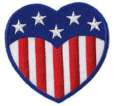 Patch Écusson patche Coeur USA embellissement thermocollant brodé