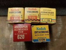 Lot of 5 Unused Photo Film Kodak and odd ball