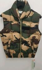 Off-White Mens Camouflage Green Quilted Bodywarmer Gilet S Small