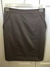 New H & M Gray Pencil Skirt Lined W Pockets NWT Nice GIFT Size 4 $25