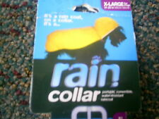 dog RAINCOAT & COLLAR Color Yellow Size Medium fits 15 Inches