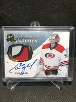 2014-15 UD The Cup Cam Ward Signature Patches /99 3 Color Patch Auto Carolina 🔥