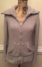 Cozy Womens Maurices Cowl Neck Sweater Medium Gray Full Zip Turtleneck Jrs Sale