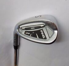 Polished Left Handed Ping i20 Green Dot Sand Wedge CFS Stiff Steel Shaft