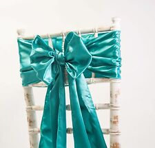 SATIN SASHES AND MATCHING TABLE RUNNERS  WEDDING DECOR 42 COLOURS AVAILABLE