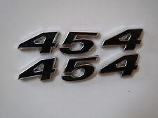 CHEVROLET 454 ENGINE ID FENDER QUARTER PANEL HOOD SCOOP TRUNK EMBLEMS - BLACK