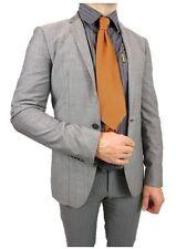 CALVIN KLEIN €399 Mens New Grey Formal Wool Business Blazer Jacket sz 36 M J21