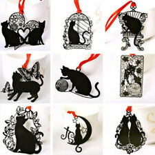 FM- 2X Lovely Stationery Hollow Bookmark Black Cat Book Holder Student Gift _GG