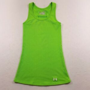 Under Armour Tank Top Green Womens XS Fitted Heatgear Activewear