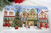 "Pier 1 Victorian Christmas Village Serving Platter Tray Ironstone 14"" x 8"" NEW"