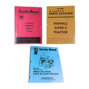 FARMALL SUPER C OWNERS/OPERATORS, PARTS, SERVICE MANUAL