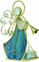 CMC Stained Glass Votive Holder Angel With Horn