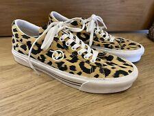 Unisex Vans Leopardo Animal Print Con Cordones Zapatillas UK 8 usado una vez