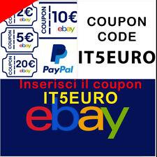 Ricarica GRATIS saldo Paypal  converti coupon EBAY 5€