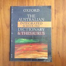 Oxford Australian Integrated School File Dictionary & Thesaurus