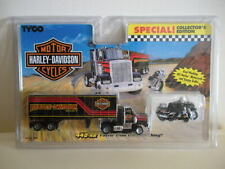 1994 TYCO SLOT SET HARLEY DAVIDSON MOTORCYCLE-TRACTOR TRAILER 9090 RARE-SPECIAL