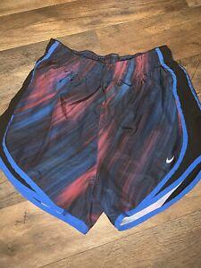 Nike Dri Fit women Jogging Shorts Multi Blue Color Size Small