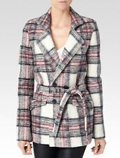 Paige Leona Coat - Gray/Pink/Cream Plaid XS MSRP: $397.00