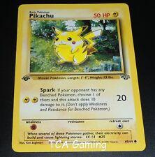 Pikachu 60/64 1ST EDITION Jungle Set COMMON Pokemon Card EXCELLENT
