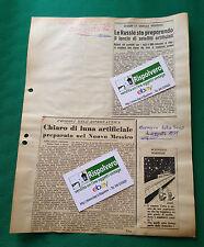 CLIPPING NOTIZIE ASTRONAUTICA DAL RESTO DEL CARLINO E CORRIERE DELLA SERA1955