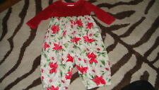 BOUTIQUE BABY LULU 12M 12 MONTHS POINSETTA OUTFIT
