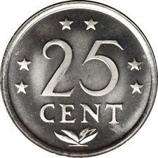 NETHERLANDS ANTILLES 25 CENTS 1985 MATTE SPECIMEN ISSUE ***LOW MINTAGE***