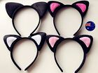 Women Lady Kid girl Pink Cat Kitty Animal Costume Ear Party Hair head band Prop
