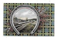LUMPHANAN Postcard Deeside Aberdeenshire Railway Station Tartan 1909 Postmark