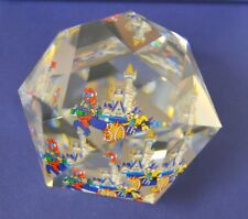 "Swarovski-Arribas Disney round paper weight ""30th Aniversary"""