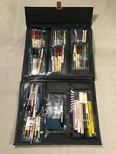 (47) Vintage RitePoint Salesman Sample Pens with Binder Samples Advertising