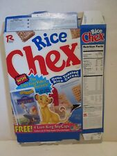 DISNEY RALSTON RICE CHEX LION KING VIDEO PROMO CEREAL BOX EMPTY FLAT 1996