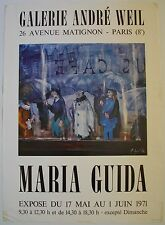 Affiche MARIA GUIDA 1971 Exposition Galerie André Weil