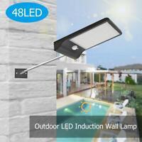 48LED Luce Solare Lampada con Sensore di Movimento Esterno Proiettori Faretti