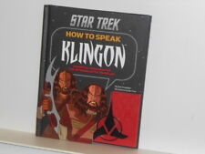 Vtg. Star Trek: How to Speak Klingon Hardcover Book w/ Audio