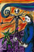 Michael Myers Jack Skellington Gremlins Stripe  11 x 17 High Quality Poster