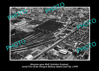 OLD POSTCARD SIZE PHOTO KINGSTON UPON HULL ENGLAND PARAGON RAILWAY STATION 1950