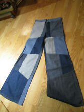 "high waisted patchwork jeans size 31"" waist"