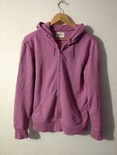 GAP Cotton Jersey Hooded Jacket Size S Pink Zip Front <R11752
