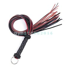 Genuine Leather Queen Weave Whip Riding Crop Party Game Kinky Flogger Sexy Toys