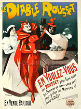 Diable Rousset, 1900 Vintage French Funny Devil Giclee Canvas Print 20x27