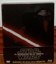 STAR WARS EL DESPERTAR DE LA FUERZA STEELBOOK 2 BLU-RAY+DVD NUEVO PRECINTADO R2