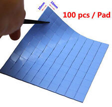 100PCS 10mm x 10mm 1mm THICK THERMAL HEATSINK TRANSFER PAD DOUBLE SIDED ADHESIVE