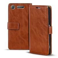 Handy Tasche Hülle Sony Xperia XZ1 Compact Case Klapphülle PU Leder Wallet Cover