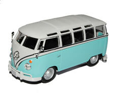 VW Volkswagen T1 Transporter PeRSonen Bully Hell Blau Weiss 1/43 Cararama Modell