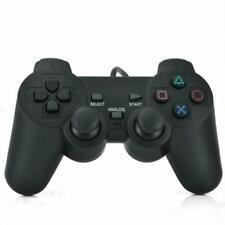 Wired Dual Shock Controller for PS2 Playstation 2 Gamepad Black