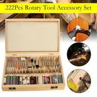 222Pcs Rotary Tool Accessory Grinding Polishing Cutting Bit Kit Set for Dremel