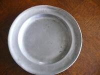 Rarität fast 200 Jahre alter Zinn Teller Zinnteller massiv Zinn 3 x gestempelt 8