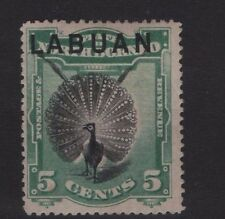 LABUAN SG 65 1894 5c overprint on North Borneo Perf 14½-15 Mounted Mint