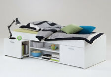 Bett Funktionsbett Kinderbett 90 x 200 cm weiss Woody 70-00459